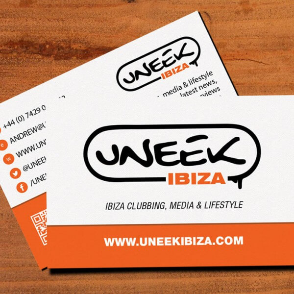 Uneek Ibiza Business Card
